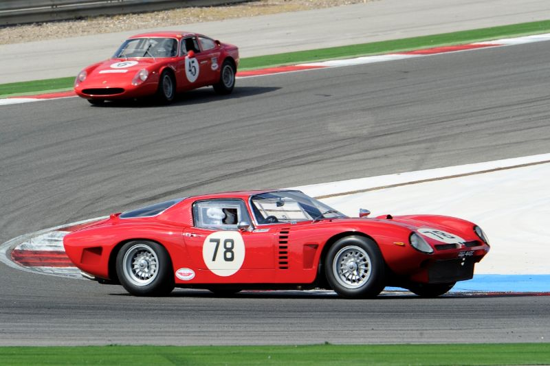 Alex Bell in his Iso Grifo A3/C. Competeing in the Italian Sports Car Cup and Masters GT and Sports Car Cup.